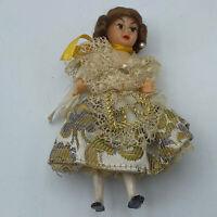 Miniature Plastic Doll Mohair France
