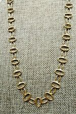 "A35) Fossil Brass Link Chain - Adjustable 18"" to 20"""