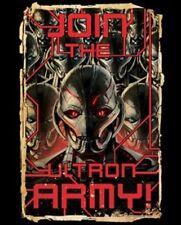 Marvel Comics Avengers Age of Ultron Movie Ultron Army Poster T-Shirt XXL UNWORN