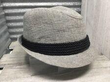 Trevero Men's Brim Grey with Black Rope Trim Accent Marble Texture 58909 Sz S/M