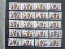 BRD 1989: 20 x Europa - Kinderspiele Puppentheater 100 Pf gestempelt