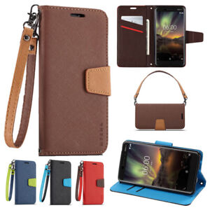 For Nokia 2.2 2.3 4.2 5.3 6 6.2 7 7.1 7.2 8 9 C1 Wallet Leather Case Flip Cover