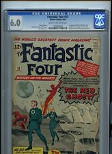 Fantastic Four #13 CGC 6.0 1st Appearance Of The Watcher & Red Ghost -Jack Kirby