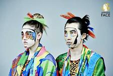 Unique! Kansai Yamamoto Kabuki Design Face Mask (2 Sheets) Facial Pack Japan