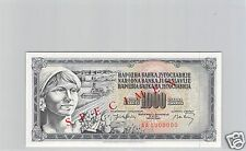 YOUGOSLAVIE SPECIMEN 1 000 DINARA 19.XIII.1974 PICK cf 86 !!!