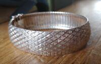 Vintage Modernist Articulated Sterling Silver Cuff Bracelet MILOR ITALY