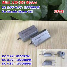 Dc 24v 8250rpm Mute Precious Brush Small Mini 180 Motor Diy Electric Shaver