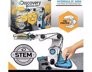 Discovery # Mindblown Hydraulic Arm (176 Piece) STEM, Control Robotic Toy, NEW