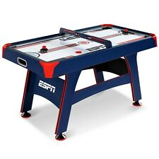 ESPN 60 Inch Air Powered Hockey Table with Overhead Electronic Scorer, UL Certif