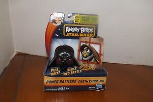 New  STAR WARS Angry Birds Battlers Darth Vader PIG HASBRO NEW Space Game  NRFB