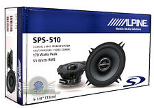 "Alpine SPS-510 5.25"" 2-Way Type-S Coaxial Car Speakers New (PAIR) 5-1/4""  SPS510"