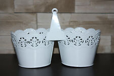 METAL ''lace''  PLANTER BOX POT VINTAGE SHABBY  WEDDING TABLE DECORATION