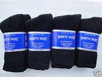 Best quality 12 pair of mens black Diabetic crew socks sz 10-13 ( MADE IN USA )