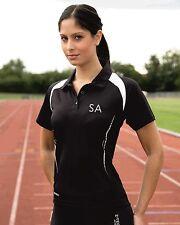 Personalised Spiro Womens/Ladies Performance Polo Shirt Mesh Sport Short Sleeve