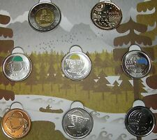 PARKS OF CANADA SPECIAL EDITION LEGENDARY NATURE 8 UNC COINS FROM MINT ROLLS