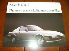 1979 MAZDA RX7  *** DOUBLE SIDED SALES SHEET / BROCHURE *** RX-7