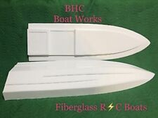 RC boat hull fiberglass 44x14