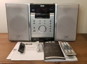 RCA RS2054 Mini Home Music Speaker System Wired with Remote, Antenna READ DESC