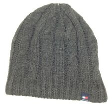 798f211e $97 TOMMY HILFIGER UNISEX MEN GRAY BLUE KNITTED ACRYLIC WINTER CAP BEANIE  HAT