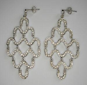 Chandelier Stud Earrings, Sterling silver earrings