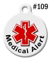 Pet Tags for Dogs & Cats | Personalized Custom Cute ID Tag | MEDICAL ALERT #109