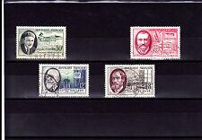 France 1957 - Série complète T. oblitérés  Personnages célèbres YT 1095 à 1098