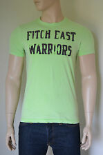 NUOVO Abercrombie & Fitch Iroquois Mountain distrutto VERDE GUERRIERI TEE T-SHIRT L