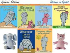 SPANISH Mo Willems ELEPHANT & PIGGIE HARDCOVER Books 1-6 WITH PLUSH EN ESPANOL