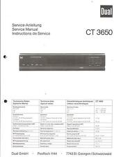 Dual Original Service Manual für CT 3650