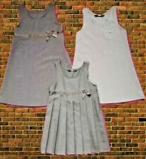 NEW Girls 3/5 PACK School Pinafore Dress BHS Age 4-10 Grey Reg Fit Charcoal
