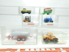 bk4-0,5 #6x WIKING H0 / 1:87 Modèle 374+663+385 MB Tracteur+381+382+880 , NEUF