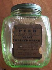 Green Depression Glass Canister Jar