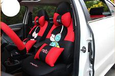 20pcs/set women cute cartoon universal car seat cover Front Rear Cover Accessory