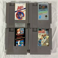 Nintendo NES Authentic 4  Game Lot   Mario Rad Racer Baseball Renegade - Tested