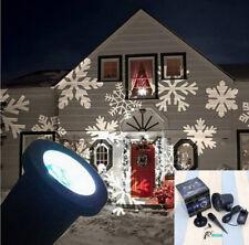 Moving Outdoor LED Snowflake Laser Light Projector Xmas Chrismas Lamp Decor UK