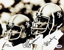 Simpson & Al Cowlings SIgned 8x10 Photograph with PSA/DNA Authentication