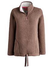 Joules Bonita Womens Half Zip Fleece Warm Cosy and Lightweight in Praline 8