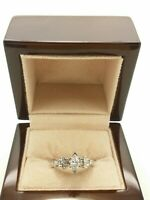 18k White Gold Engagement Ring GIA Certified 0.80 Ct Brilliant Diamond #rome 245