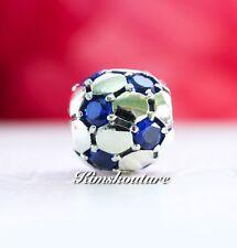 Authentic Pandora Charm Soccer Ball Blue CZ 790444CZB