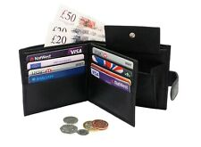 ODS:UK Men's Leather Wallet with RFID Blocking - Black (DL08)
