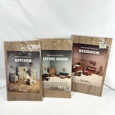 3 Dura-Craft Doll House Miniature Furniture Kits Living Room Bedroom Kitchen Lot