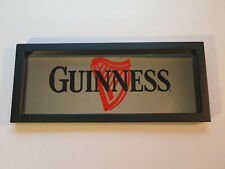 "Guinness Beer 18""x7"" Mirror Sign Display Man Cave Bar"