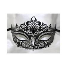 Black Laser Cut Filigree Metal Masquerade Mask