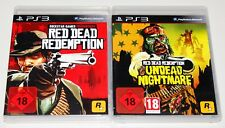 2 PlayStation 3 juegos set-Red Dead Redemption & Teleadicta Nightmare Add on ps3
