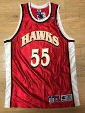 CHAMPION ATLANTA HAWKS #55 DIKEMBE MUTOMBO AUTHENTIC NBA JERSEY NWT 44