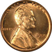 1955 1c Lincoln Wheat Cent Penny US Coin BU Uncirculated Mint State