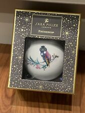 NEW BOXED PORTMEIRION SARA MILLER CERAMIC COLLECTABLE OWL BAUBLE CHRISTMAS