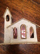 WHITE GOLD GLITTER CHRISTMAS MICA PUTZ CHURCH JAPAN MADE