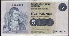 1980 CLYDESDALE BANK LIMITED £5 BANKNOTE * D/CN 057603 * aVF *