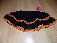 Toddler Size 3T Evy Twirl Black Orange Sparkle Tutu Skirt Halloween Costume New